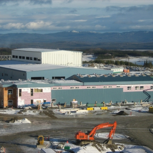 Gold mine refinery process plant and associated facilities nearing completion in northern British Columbia Canada 2013