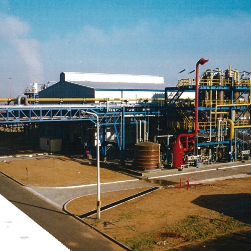 Petrochemical gas plant central South Africa