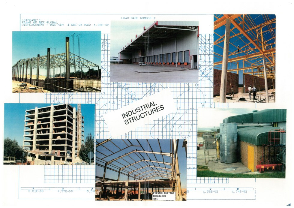 COLLAGE - INDUSTRIAL BUILDINGS