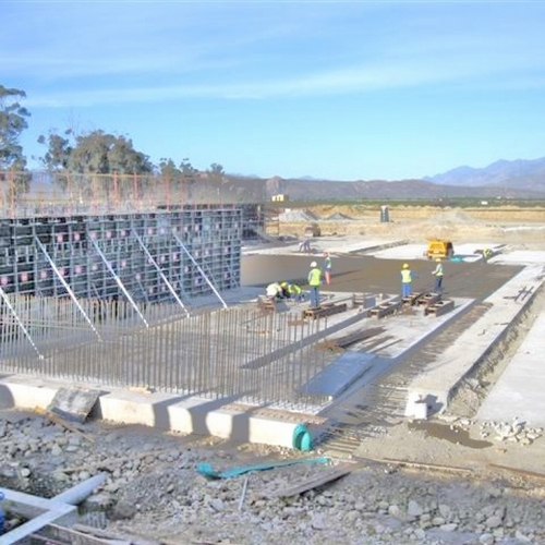 10 Ml water storage concrete reservoir interior of Southern Africa